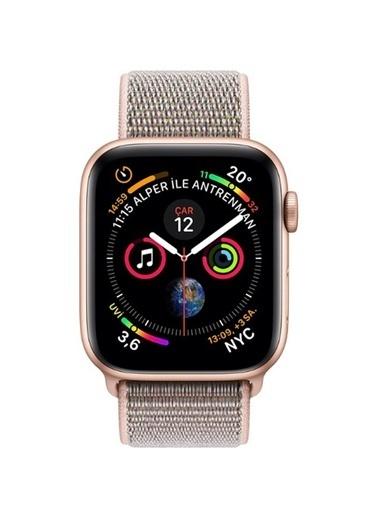 Apple Watch S4 GPS, 44mm Gold Aluminium with Pink MU6G2TU/A Altın